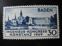 BADEN FRENCH OCCUPATION Mi. #46 mint MNH stamp! CV $31.25