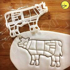Cow cookie cutter | Butcher's guide to beef cuts|chef meat chart kitchen diagram
