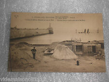 "Ancienne carte postale ww1 ""zeebrugge travaux de défense allemands"" (do)"