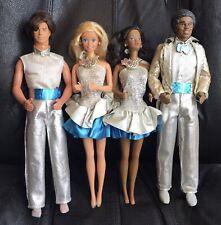 Lot of 4 1986-87 JEWEL SECRETS BARBIE Dolls - Barbie, Ken, AA Barbie, AA Ken