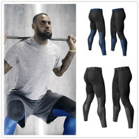 Mens Quick-dry Compression Gyms Fitness Tight Pants Trousers Bodybuilding