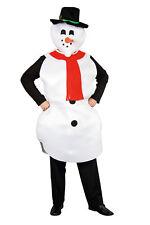 Schneemann Kostüm 2tlg. Hut Karotte Weihnachten Fasching Party Erwachsene