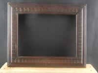 ANTICA RARA CORNICE IN LEGNO GUILLOCHE GHIOSCE' PRIMO 900 ITALIA 43,5 x 35,5 CM