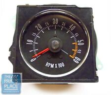 1970-72 Buick GS New Dash Tach With Pointed Lens Factory Metal Housing