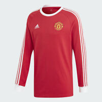 Adidas 2020-21 Manchester United Icons Long-Sleeve Tee - Red-White