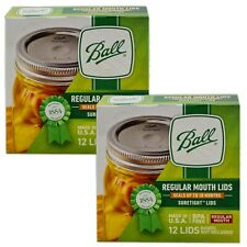 2 Boxes - Ball Regular Mouth Canning Jar Lids - Made In Usa - *New*