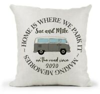 Personalised Home is where we park it Cushion..VW Campervan/Camper Gift/Family