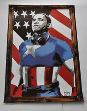 MBW MR BRAINWASH OBAMA LITHOGRAPH POSTER PRINT FROM ART BASEL 2012