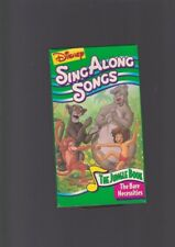VHS Disney SING ALONG SONGS THE JUNGLE BOOK bare necessities