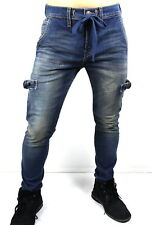 True Religion Ricky Mick Skinny Drawcord Jogger Jeans - MDABX446VS
