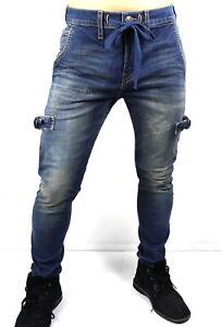 True Religion Mick Skinny Drawcord Jogger Jeans - MDABX446VS Size 32, 34