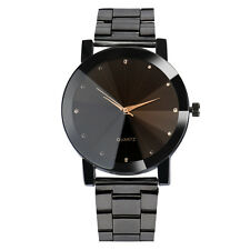 New Fashion Men Women Watches Crystal Stainless Steel Analog Quartz Wrist Watch