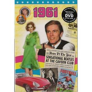 60th Diamond Wedding gift ~ Reminisce 1961 with DVD and Greeting Card
