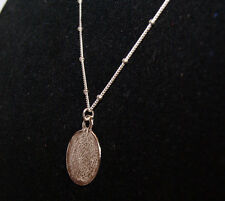 Macy's Sterling Silver Round Necklace Retail $140 UPC 0030464