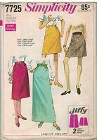 7725 UNCUT Vintage Simplicity Sewing Pattern Misses Jiffy Skirts 4 Lengths OOP