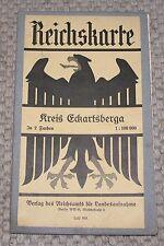 Reichskarte Kreis Eckartsberg in 2 Farben auf Leinen Landkarte 1:100000