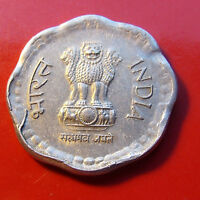 Error 1988 INDIA 10 PAISE   ALUMINUM COMP. OBVIOUS DIE BREAKS And other errors!