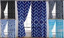 5 PC Wholesale Lot Drape Cotton Window Curtain Curtain Sheer Wall Curtains Art