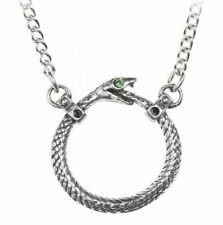 Alchemy England - Sophia Serpent Necklace, Snake Ouroboros Symbol Gothic, Pewter