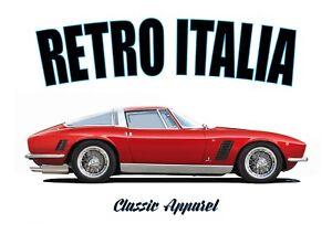 ISO GRIFO t-shirt. RETRO ITALIA. CLASSIC CAR. SUPERCAR. MODIFIED. ITALIAN.