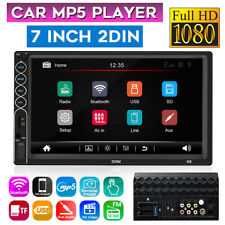 7'' 2 Din bluetooth Car Stereo Video MP5 Player HD Touch Screen Radio AUX FM GPS