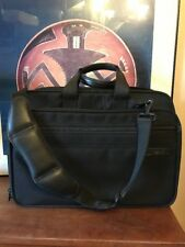 """Briggs & Riley @ work Messenger Bag Expandable Briefcase 17"""" Carry On Luggage"""