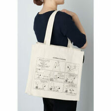 Let's live happily! Peanuts Snoopy x Journal Standard Square Canvas Tote Bag