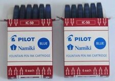 12X Blue Pilot / Namiki Fountain Pen Ink Cartridges IC 50