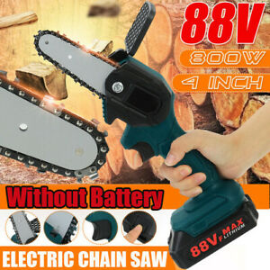 88V 800W Mini One-Hand Saw Woodworking Electric Chain Saw Wood Cutter Cordless