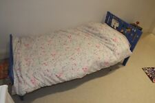Child's(3-7yrs old)bed, guard rail, blue, mattress, mattress protector & sheets