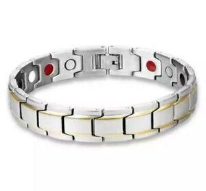 Men Italian Style Bracelet Metal Wrist Chain Link