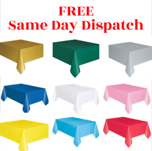 """Plastic TABLECOVERS Table Cloth Cover Party Catering Events Tableware 54""""X72"""""""