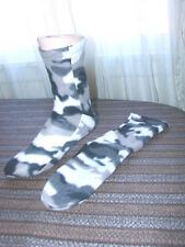 Polar Fleece Slippers Socks SNOW CAMO Camoflauge NEW Mens Camoflage