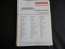 Original Service Manual Nordmende TU 1001