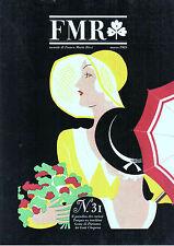 FMR N. 31 1985 ROMA/PALAZZO BRASCHI, OROLOGI BREGUET, STORIA DEL CAPPELLO