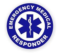 Emergency Medical Responder Hard Hat Decal / Helmet Label / Sticker EMT AED CPR