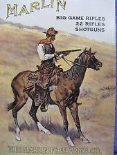 Martin Hunting Horse Gun Tin Metal Sign Country Rifles NEW