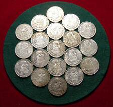 Lot Of 19 Mexican Silver Pesos All 1960 Uncirculated - L@@K