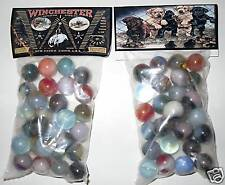 2 BAGS OF WINCHESTER FIREARMS / RIFLE COLLECTOR MARBLES