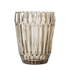 Bloomingville Cristal Marrón Vaso Bebida Vaso de Agua 10cm 230 Ml Versión Pesada
