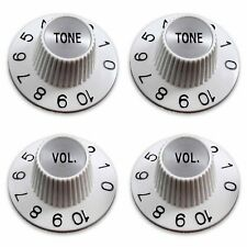4x BOUTONS BLANC Chapeau de sorcière WITCH HAT KNOBS BlackSilverTop Tone+Vol 6mm