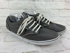VANS Classic Grey Canvas Sneakers Womens Shoes Size 11 US