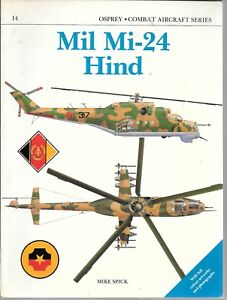 Osprey Combat Aircraft Series 14, Mil Mi-24 HIND, Softcover Ref. 1988 FN ST