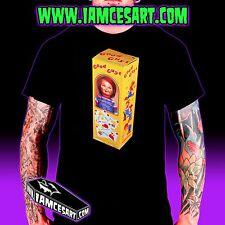 Good Guy Doll Men's Black 100% Cotton Tee Horror Chucky Child's Play iamcesart