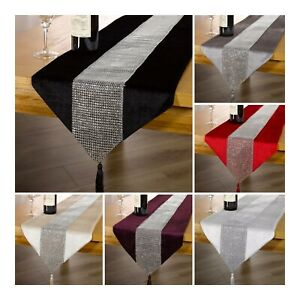 Table Runner Bling Sparkle Diamanté Also Available Placemats in packs of 6