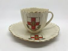 Carlton Crested China - Cup & Saucer - Lincoln Crest