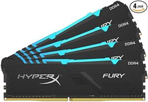 HyperX Fury RGB 64GB (4X16GB) 3200MHz DDR4 CL16 DIMM (Kit of 4)