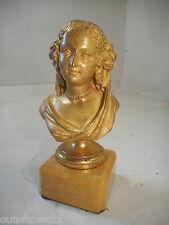Antique Gilt Bronze Classical Bust   ref 1530 7/6N30 ny