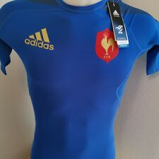 superbe  maillot COMRESSION  de rugby FRANCE   marque adidas  taille xS
