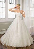 New Custom White/Ivory Wedding Dress/ Bridal Gown Size:6/8/10/12/14/16 Petticoat